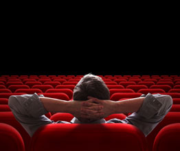 man in a theater by hisself